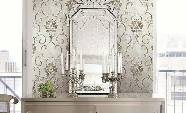 Seabrook wallpaper in an elegant new Artdeco style