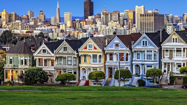 Colorful houses in SanFrancisco
