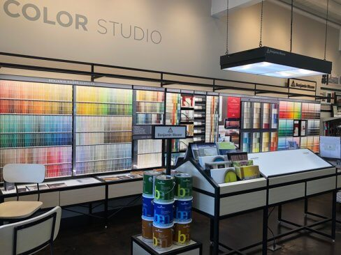 The color studio in Marketplace Paints
