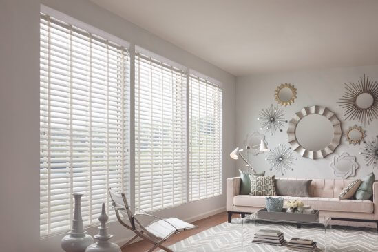 Pinnacle Blinds in a bright pastel colored room