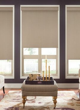 Graber Blinds in a rustic color room