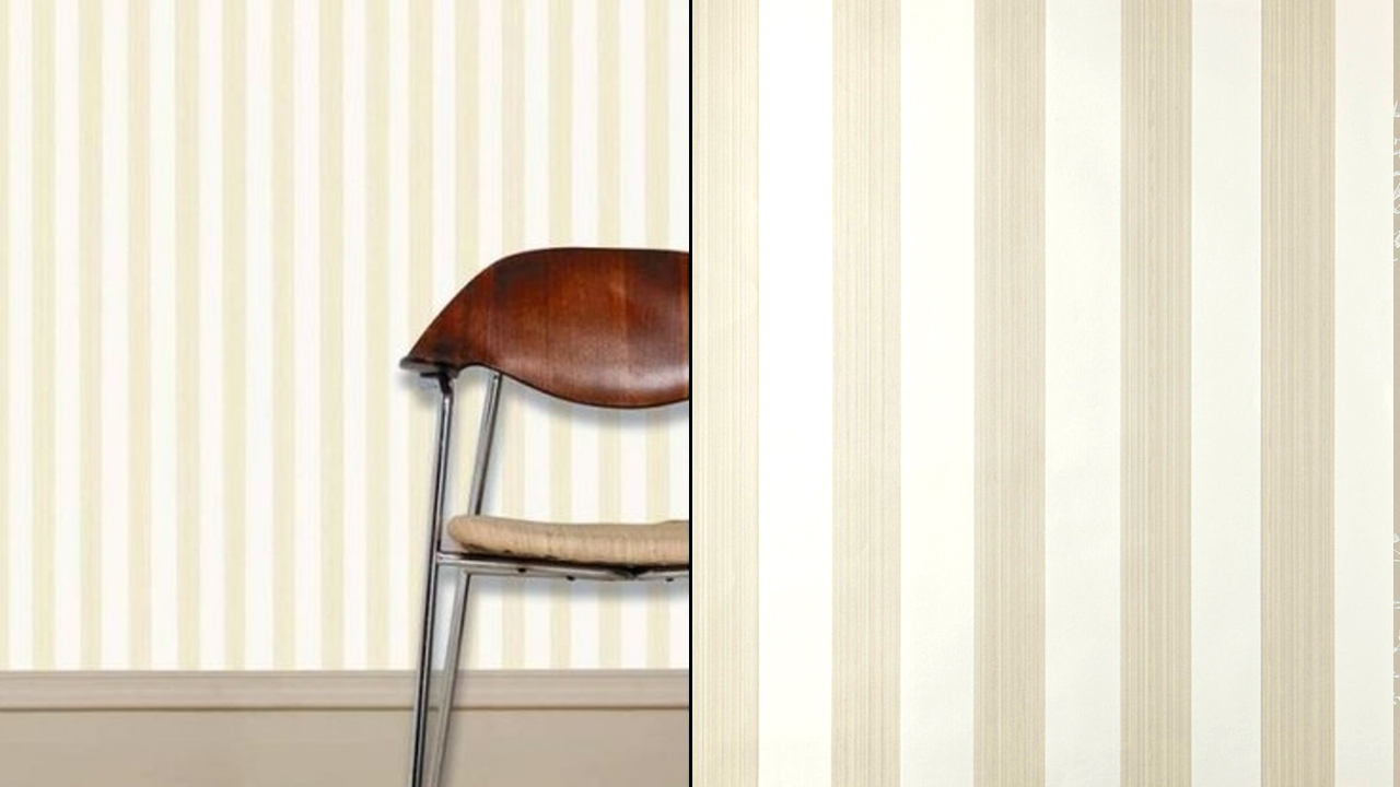 Furrow & Ball Five Over Stripe Wallpaper