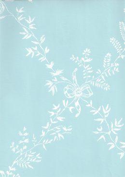 Furrow & Ball Toile Trellis Wallpaper Baby. Blue