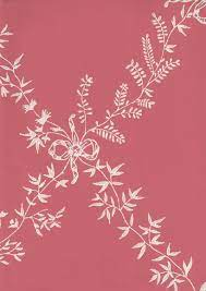 Furrow & Ball Toile Trellis Wallpaper Dark Pink