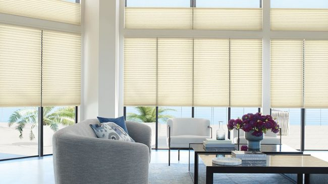 Hunter Douglas Duette Honeycomb Shades. Marketplace Paints Blinds and Window Treatment in Aiken and North Augusta