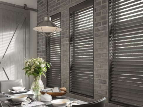 Pinnacle Synthetic Blinds in dinning room