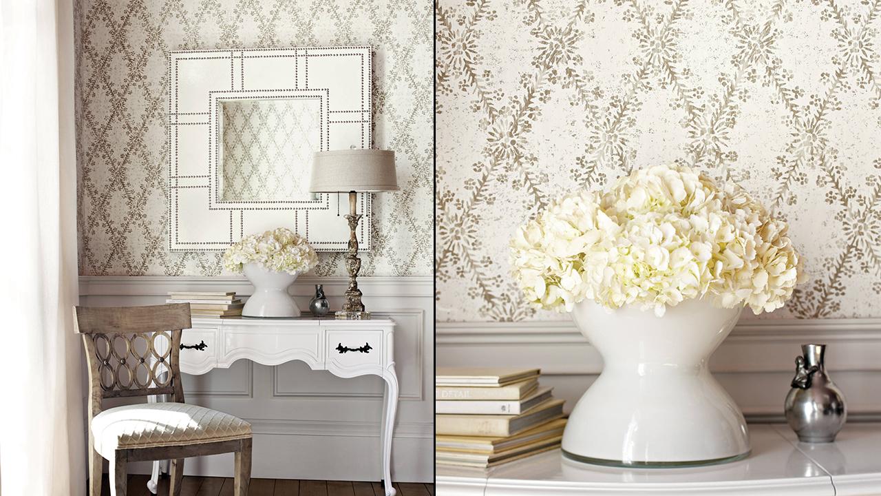 Thibaut La Gioconda Floral Wallpaper